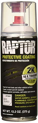 RAPTOR UP4885 White Bedliner 13.02 Oz 2K Aerosol, 400ml