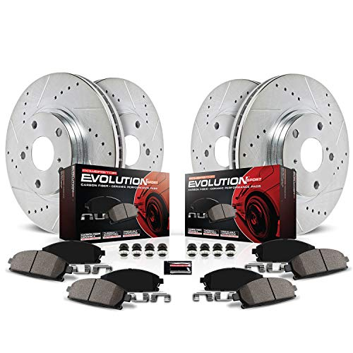 Power Stop K200 Front & Rear Brake Kit with...