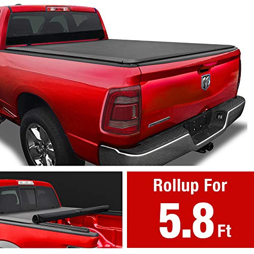 MaxMate Soft Roll Up Truck Bed Tonneau Cover Compatible...