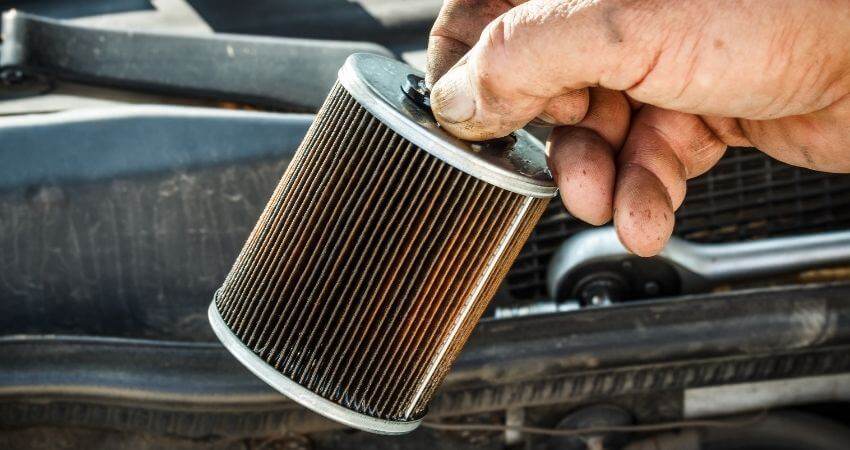How often to change the fuel filter on the 6.7 Powerstroke