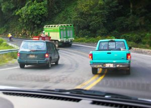 How do you pass a car or truck safely