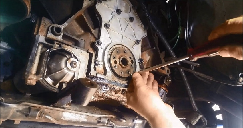 replace a rear main seal without removing the transmission